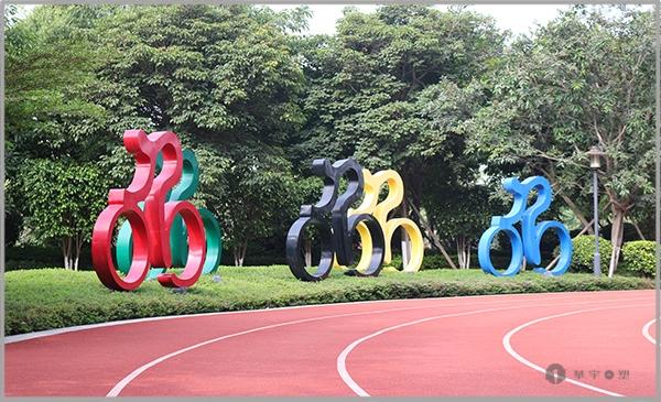中庚香海世界不锈钢广场雕塑