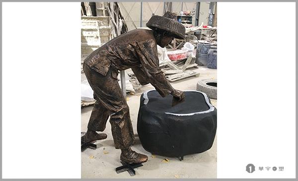 海南民俗园文化铸铜人物雕塑