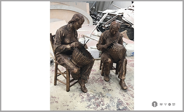 建欧竹博物馆竹子文化铸铜雕塑