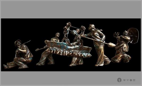 龙岩民俗文化铸铜雕塑