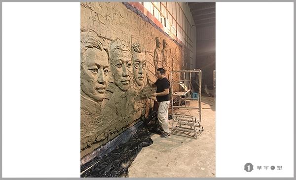 宁德国家安全局玻璃钢龙潭三杰士浮雕墙