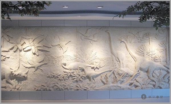 秦皇岛史前馆砂岩恐龙雕塑