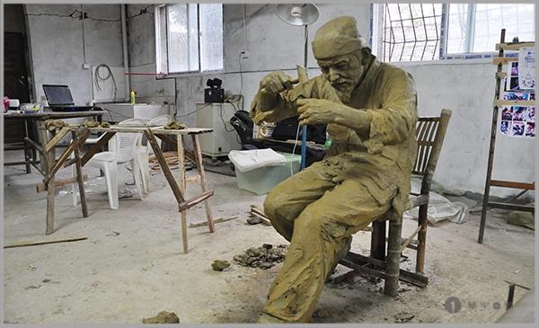 三坊七巷银盛号银器制造场景雕塑