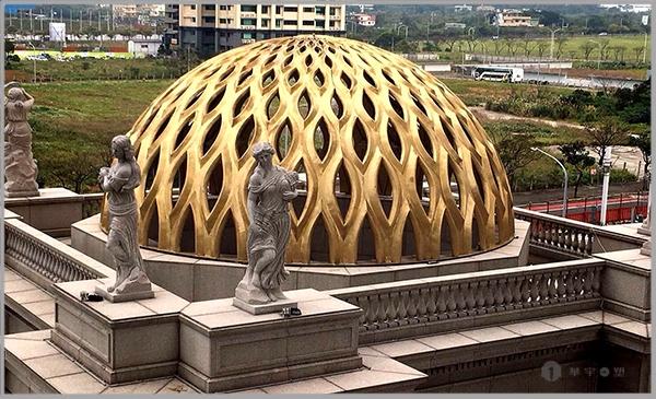 台湾天艺锻铜穹顶雕塑