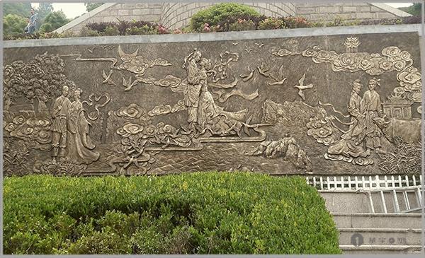 福鼎牛岗山公园玻璃钢仿铜浮雕