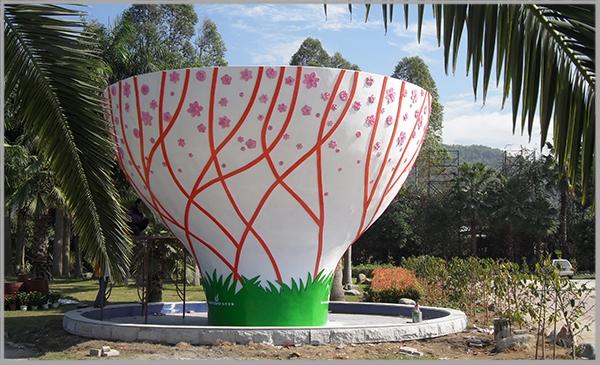 漳州花博园玻璃钢景观雕塑