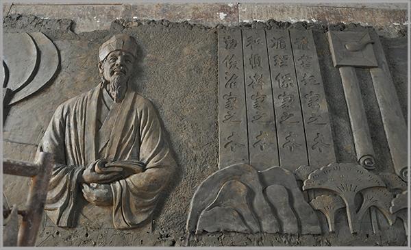 尤溪小学砂岩校园文化浮雕墙