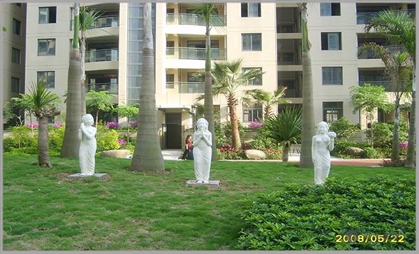 三盛巴厘岛砂岩花盆景观浮雕