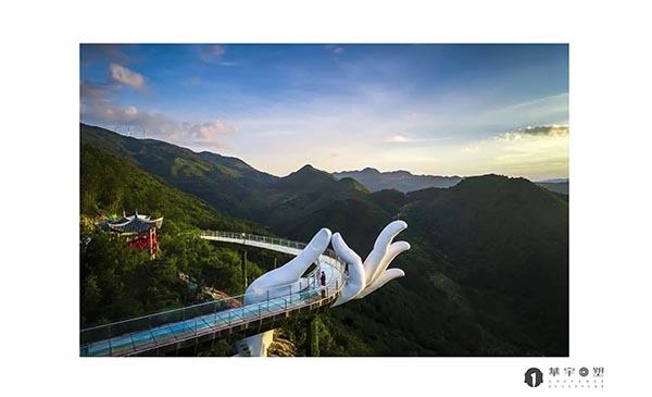 三明古溪星河景区仙手桥烤漆雕塑建造